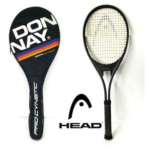 Vtg Donnay Tennis Cover + Head AMF Racquet Racket